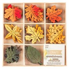 Red, Orange & Green Painted Plywood Leaves