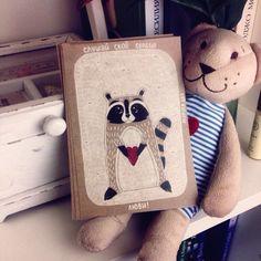 Авторские открытки, raccoon, MarusyaArt, art, bohoart, card, illustrator, cat, illustration, Kirov, postcard, postcrossing, открытки, енот, арт, бохоарт