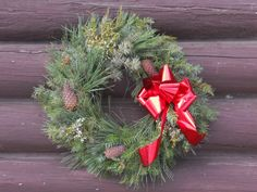 Mixed Holiday Wreath (from MT, Tizer Botanic Gardens)