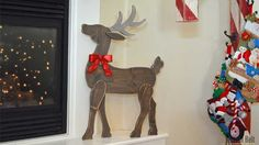 Woodworking Jigsaw Make a festive Christmas DIY Wood Reindeer from a board. Use the free pattern to cut out the deer with a jigsaw, scroll saw or band saw. Christmas Wood, Outdoor Christmas, Christmas Projects, Christmas Ideas, Christmas Decorations, Christmas Stuff, Xmas, Holiday Decor, Woodworking Jigsaw