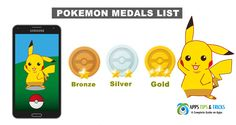 Pokemon Go Medals List : How to Unlock Bronze, Silver and Gold