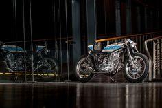 Yamaha SR400 Cafe Racer by Krugger Motorcycles #motorcycles #caferacer #motos | caferacerpasion.com