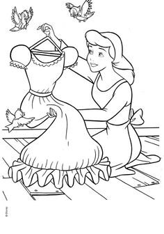 Cinderella. Disney coloring page