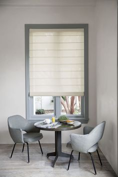 Our Roller Roman Shade stacks in softly tailored folds when opened and lies flat when closed. #Roller #Roman #Shades