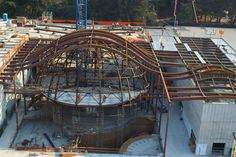 The California Academy under Construction. The bones of the building built by…