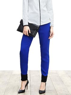 Colorblock Drapey Pant