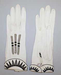 Gloves  Date: 1920s Culture: American (probably) Medium: leather, silk