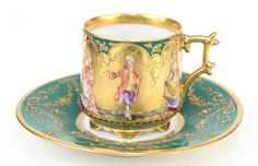 Richard Klemm Dresden Hand Painted Demitasse Cup Saucer with Figures #Dresden .....................................Please save this pin. ............................................................. Click on this link!.. http://www.ebay.com/usr/prestige_online