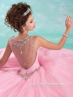 Quinceanera - Beloving - Style: 4617 by Mary's Bridal Gowns #sweet15 #quinceaños #sweet16 #sweet16dress #xv #xvdress #quince #quincedress #ballgown #mis15 #quinceaneragowns #misxv #sweet16gown #quinceañera #quinceañeradress #quinceshopping #sweet16shopping #detail #beading #embellishment #pink #rosa