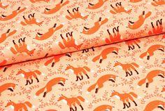 "Michael Miller Stoff ""Socks the Fox"" orange von NatalinkaStoffe auf DaWanda.com"