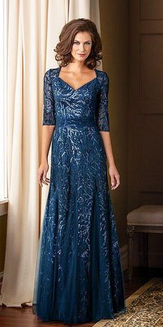 Evening gowns for weddings elegant bridal gown wedding dress elegant Long Mothers Dress, Mother Of The Bride Dresses Long, Mothers Dresses, Mother Bride, Best Formal Dresses, Mob Dresses, Dress Formal, Elegant Wedding Dress, Elegant Dresses