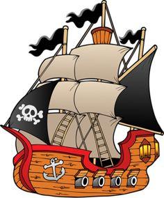 "Photo from album ""Корабли, лодки"" on Yandex. Pirate Day, Pirate Birthday, Pirate Theme, Pirate Quilt, Homemade Pirate Costumes, The Pirates, Bateau Pirate, Libros Pop-up, Pirate Treasure"