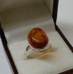 Vintage Ringe - Ring Bernsteinring in 925er Silber SR536 - ein Designerstück von Atelier-Regina bei DaWanda