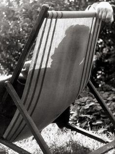 Hans Thiemann in deck chair, c. 1950  Elsa Thiemann