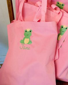 Frog prince favor bags #frog #prince #partyfavors
