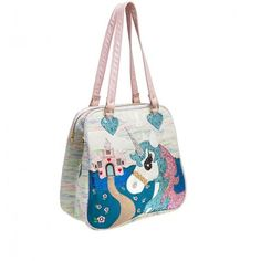 Irregular Choice 'King of the Castle quirky unicorn, handbag, white ❤ liked on Polyvore featuring bags, handbags, handbags bags, white bag, handbag purse, unicorn purse and white purse