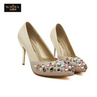 2015 новое поступление лето в стиле секси высокие каблуки платформы острым носом обувь женская туфли на высоком каблуке ночной клуб сандалии белый размер 35-39