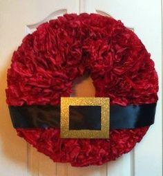 Santa's Belt Coffee Filter Wreath