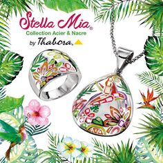 Nouvelle collection Stella Mia, bijoux acier et nacre à la Bijouterie DUPRILOT
