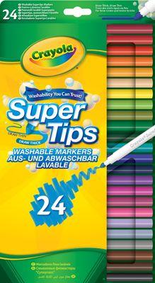 Crayola 24 Super Tips Washable Markers Markers Crayola