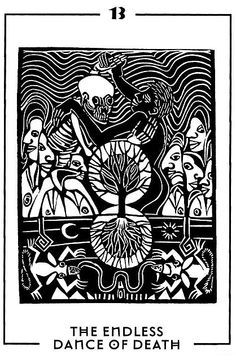The Endless Dance of Death - Light and Shadow Tarot by Michael Goepferd and Brian Williams