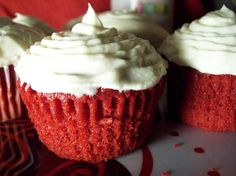 Easy Red Velvet Cupcakes or Cake from Food.com:   No one will ever guess this is made from a cake mix, cooking time is only estimated, depending on your cake mix baking directions