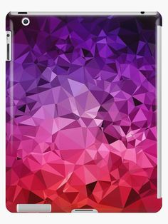 Beautiful vibrant and abstract geometric on iPad case and skin . I design by Dominique Vari on Redbubble I . #tech #ipadskin #ipadcase #geometry #ultraviolet #purple #beautiful #pattern #dominiquevari #redbubble