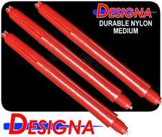 Dart Shafts - Designa Nylon Stems - Durable Plastic - Medium - Red - http://www.dartscorner.co.uk/product_info.php?cPath=434_866_436&products_id=1004
