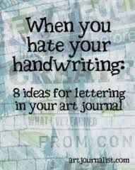 You Hate Your Handwriting: 8 Creative Lettering Ideas for Your Art Journal When You Hate Your Handwriting: 8 Lettering Ideas for Your Art Journal - Art Journalist Art Journal Pages, Journal D'art, Wreck This Journal, Art Journals, Journal Ideas, Creative Journal, Journal Topics, Art Journal Prompts, Bullet Journals