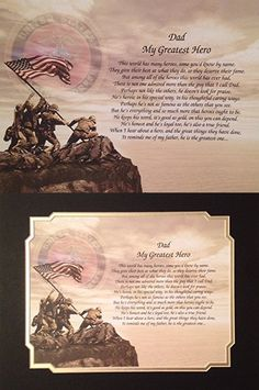 Marines Gift For Dad My Greatest Hero Birthday Veterans Day Military