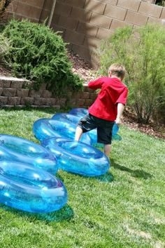 Super Hero training + Slip and Slide (for flying of course) # 19 {Water Game}