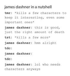The Kill Order: James Dashner: KILL ALLLL THE CHARACTERS! HAHAHAHAHA!!!!