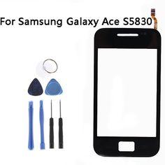 Cho samsung galaxy ace touch màn hình cảm biến cho galaxy ace s5830 cửa sổ glass digitizer màn hình cảm ứng phụ tùng thay thế + công cụ 3.5