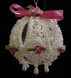 How to Make Victorian Style Lace Christmas Ornaments                                                                                                                                                                                 More