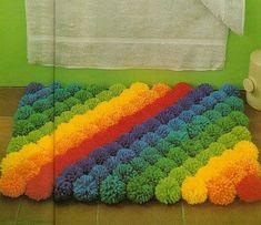 good make a pom pom rug for vintage rainbow pom pom rug pattern and tutorial by . good make a pom pom rug for vintage rainbow pom pom rug pattern and tutorial by 22 crochet pom pom Diy Pom Pom Rug, Pom Pom Crafts, Yarn Crafts, Pom Poms, Diy And Crafts, Tapetes Diy, Rug Hooking Patterns, Diy Décoration, Quilt Pattern