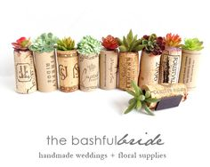Rustic wedding favors are a breeze with faux succulents + wine cork. Designed as a fridge magnet, cork and artificial succulent. This is an order for 100 favors. Need fewer succulent corks? See our WEDDING FAVOR OPTIONS: Succulent Wedding Favors, Rustic Wedding Favors, Unique Wedding Favors, Wedding Party Favors, Handmade Wedding, Wedding Ideas, Trendy Wedding, Rustic Weddings, Dream Wedding