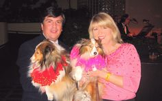 Peter (w/Lillie) & Kathy (w/Daisy) At The Bark & Whine Ball At The Giftcenter, San Francisco