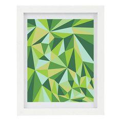 Geometric Art Print, Kaleidoscope, Modern Home Decor, Wall Art, Green, Abstract Art,  8 x 10 Fine Art Print