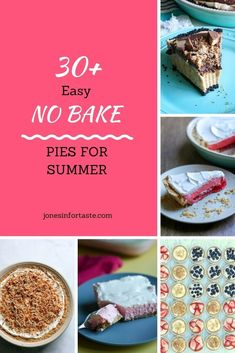 Choose from one of these amazing easy no bake pies to satisfy your sweet tooth that won't keep you nice and cool this summer. These are perfect whether you want to make a pie just for yourself (totally not judging) or need an easy dessert to take to a potluck or party. New Dessert Recipe, Summer Dessert Recipes, Easy No Bake Desserts, Holiday Desserts, Chocolate Chip Cookie Pie, No Bake Chocolate Cheesecake, No Bake Pumpkin Cheesecake, Oreo Cream Pies, Sweet Whipped Cream
