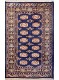 "Navy Blue Oriental Bokhara Rug 3' 1"" x 5' 1"" (ft) - No. 11225  http://alrug.com/navy-blue-oriental-bokhara-rug-3-1-x-5-1-ft-no-11225.html"