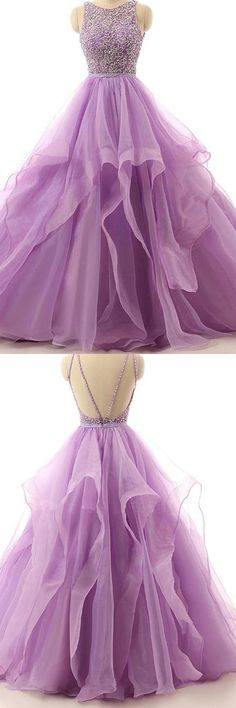 Illusion A-line Organza Cheap Evening Dress,Prom Dresses With Beading,Purple Backless Formal Dresses,Round Neck Sleeveless Party Dress,Prom Dresses Pretty Prom Dresses, Sequin Prom Dresses, Long Prom Gowns, Backless Prom Dresses, Grad Dresses, Quinceanera Dresses, Homecoming Dresses, Cute Dresses, Beautiful Dresses