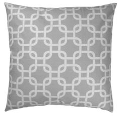 Amazon.com - JinStyles Cotton Canvas Trellis Chain Accent Decorative Throw Pillow Cover (Gray and White, Square, 1 Cover for 18 x 18 inserts...