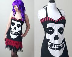 Misfits mesh ruffle corset dress by smarmyclothes