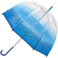 Ella Doran Birdcage - Aqua - PVC Dome Umbrella