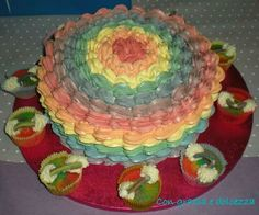 Rainbow cake in end out!