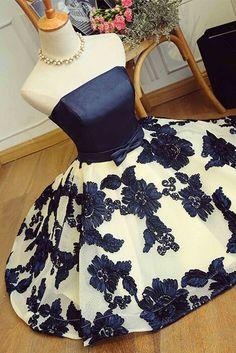 Black satins sweetheart mesh short dresses,flowers spring homecoming dress