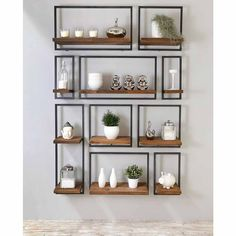 Youngsters Area Home Furnishings Etagre Murale Shelfmate Bois Massif Et Mtal, Teck Et Fer Recycls Wall Shelves, Shelving, Interior Decorating, Interior Design, Woodworking Projects Diy, Tropical Decor, Metal Wall Decor, Wall Design, Living Room Decor