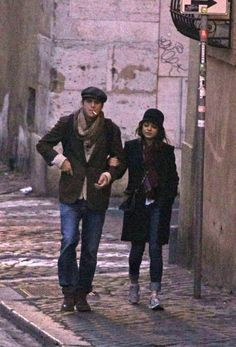 Mila Kunis and Ashton Kutcher in Rome