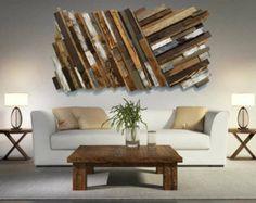 Reclaimed Wood Wall Art *FREE SHIPPING* Rustic Art, Abstract Wood Wall Art, Pallet Wall Art, Barnwood Art, Modern Wood Art, Diagonal Art