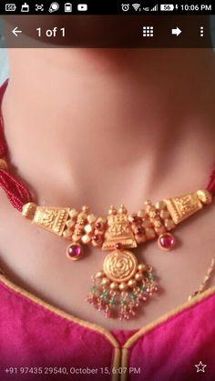 Fancy Jewellery, Gold Jewellery Design, Pendant Jewelry, Beaded Jewelry, Wholesale Gold Jewelry, Gold Jhumka Earrings, Small Necklace, Delicate Jewelry, Jewelry Patterns